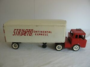 Vintage Structo Pressed Steel Trans Continental Express Tractor Trailer Semi VG
