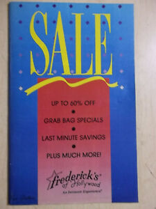 """Frederick's of Hollywood 1991 version 1400 Vol. 74 #364 cover """"SALE"""""""