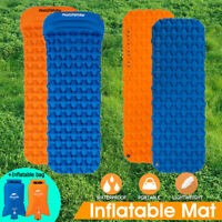 Waterproof Inflatable Camping Sleeping Pad Mat Hiking Travel Ultralight Mattress