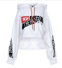 Diesel Bad Guy  Womens White Hoodie Size X-SMALL NEW WITH TAGS.