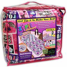"Zipit Friends Bedding Set Fleece Twin Bed Sleeping Bag Rock Princess 38"" x 74"""