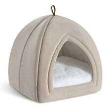 Bedsure Cat Bed for Indoor Cats, Cat Houses, Small Dog Bed - 15/19 inches 2-in-1