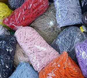 Round stretchy elastic cord 2.2 mm or 3 mm - a full bag 100 m, different colours