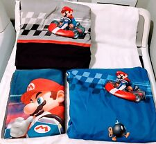 Mario Bros Kart Wii Full Size Flat & Fitted Sheets & 2 Pillowcases 4 Pc. Set
