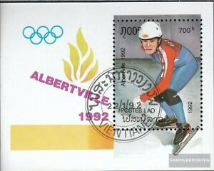 Laos block141 fine used / cancelled 1992 Olympics Winter Games ´92