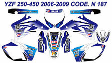 N 187 YAMAHA YZF 250 450 2006 2007 2008 2009 DECALS STICKERS GRAPHICS KIT