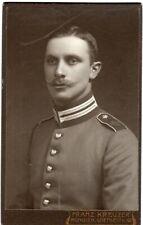 Foto Karton Soldat Bayern Inf.Leib Rgt München schulter Krone ca. 1909 Militär