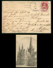 Mayfairstamps Belgium 1911 Dadizeele to MI USA Basilique Postcard wwr_15901