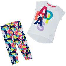 Adidas Baby Girl dos piezas grupo Combinación Pantalón camiseta multicolor