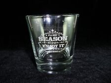 Genuine Jack Daniels Whiskey Holiday Rocks Signature Glass Weighted Base Mint