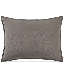 Hotel Collection Quilted KING Pillow Sham Como Greyish Brown 316