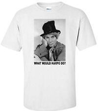 """""""Harpo Marx Wwd?"""" Marx Brothers Comedy Movie White T-Shirt"""