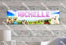 Personalized/Customized Puppies Name Poster Wall Art Decoration Banner