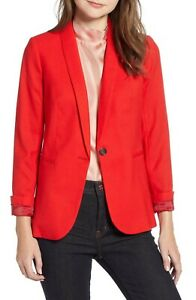 J. Crew Womens Parke Blazer in Red Plus Size 24 $198
