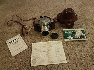 1956 German Exakta Varex VX Ihagee Dresden Camera w Carl zeiss jena 2.8/50 lens