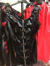 Misfitz black Pvc zip and buckle dress size 16 goth punk rock  biker
