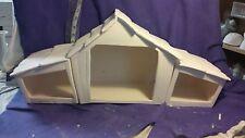 Ceramic Bisque Christmas Nativity manger (creche) ready to paint 3 piece set