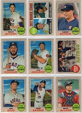 2017 Topps Heritage Houston Astros Team Set (14 Cards) Correa AS,Altuve AS