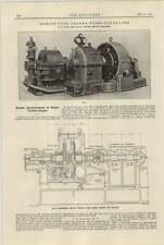 TURBINA A VAPORE 1921 miglioramenti WH Allen BEDFORD