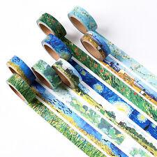 Van Gogh ispirata Washi Nastro Designs Rotolo di nastro adesivo 15mm x 7 METRI