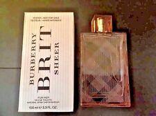 Brit Sheer by Burberry 3.4 oz Eau De Toilette Spray for Women Brand New