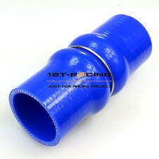 """102mm 4"""" BLUE SILICON HOSE DOUBLE HUMP HOSE Straight Hump Coupling Hoses"""