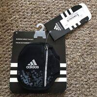 Adidas Running Wrist Pocket Black Unisex Fitness New !