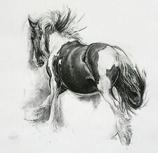 'Gypsy' horse art equine art limited edition print mounted ready to frame