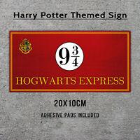 Hogwarts Express Metal Sign - Harry Potter Gift Plaque Platform 9 Train Sign