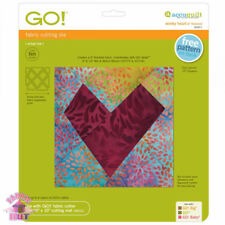 AccuQuilt Go Fabric Cutting Dies Wonky Heart 6 Finished 55471