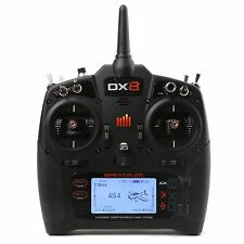 Spektrum DX8 Transmitter Only Mode 2 DSMX 2.4GHz 8 Channel With Battery SPMR8000