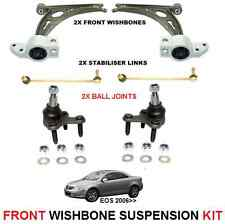 FOR VW EOS 2006-> FRONT 2x WISHBONE ARMS 2 LINK BARS 2 BALL JOINT SUSPENSION KIT