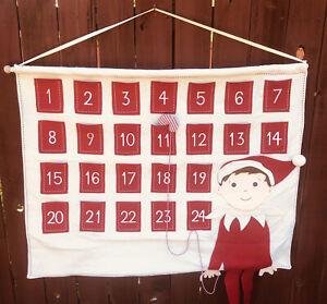 Pottery Barn for Kids Christmas ELF ON THE SHELF Advent Calendar with pockets