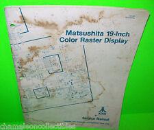"""Atari Matsushita 19"""" Video Arcade Game Original Monitor Service Repair Manual"""