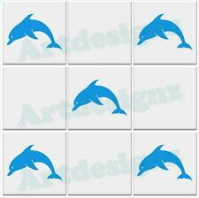 DOLPHIN Tile Stickers Bathroom Nautical Vinyl Wall Art Car Decal Transfer AD26