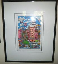 "Fazzino, Charles   ""Manhattan Mania""   3D Print   271/475 COA OOP  FREE SHIPPING"