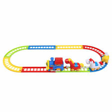 12PCS Battery Operated Musical Horse Animal Train & Track Play Set Kids Toy Gift