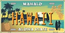 PLAQUE DE VOITURE AMERICAINE- HAWAII- ALOHA STATE - NEUVE  DECORATION USA/ BIKER