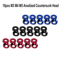 10x Aluminum Alloy M3 M4 M5 Anodized Countersunk Head Bolt Washers Gasket