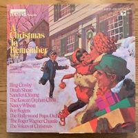 A Christmas To Remember 2-  vintage OG 1970 vinyl LP - Bing Crosby - Roy Rogers
