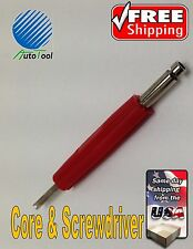 Dual  Schrader Valve Core Remover Installer Tire Changer Screwdrive Service Tool
