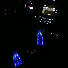 2PCS LED Blue Car Cup Holder Pad Mat Auto Atmosphere Light For Car Accessories