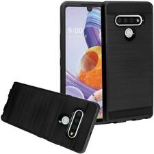 Brushed Metal HYBRID Rubber Case HARD Phone Cover Accessory For LG STYLO 6 2020