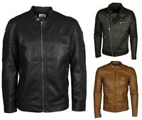 Mens New Leather Jackets Only & Sons in Brown & Black Colour Size S to 6XL
