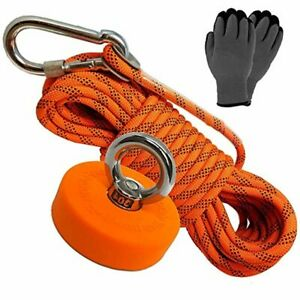 Super Strong Deluxe Magnet Fishing Kit 330 LB & Rope | Rope Over 2000 LB | Magne