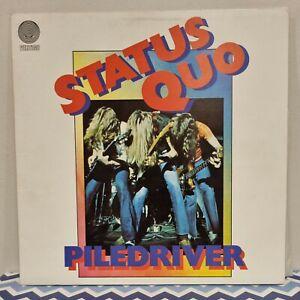 "Vintage 12"" Vinyl Record ""Status Quo"" ""Piledriver"" By Vertigo"