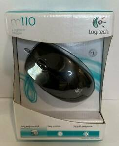 Logitech M110 Mouse Optical Plug And Play USB And PS/2 Smooth New in Box
