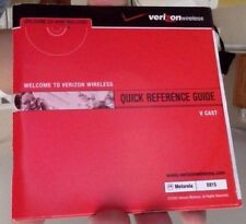 Motorola E815 Quick Reference and V Cast Guide by Verizon Wireless with CD