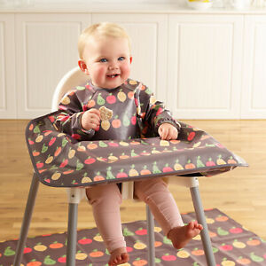 Bibetta Wipeezee Long Sleeved Wipe Clean Coverall Baby Led Weaning Bib