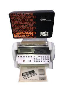 Very Rare Vintage Tandy Radio Shack Chronomath  Calculator EC-301 #65-690 NIB